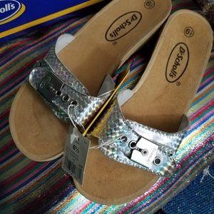 Hologram classic Dr scholls sandals NIB 6.5